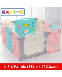 BABY-K Starry Foldable Safety Fence/Play Yard 8+2 Panels